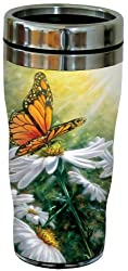 Tree-Free Greetings 77023 Rays of Light Collectible Art Sip N Go Travel Tumbler, 16-Ounce, Stainless Steel, Multicolored