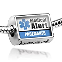 "Neonblond Beads Medical Alert Blue ""Pacemaker"" - Fits Pandora Charm Bracelet from NEONBLOND Jewelry & Accessories"