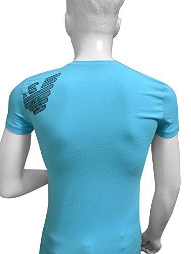 (エンポリオアルマーニ) EMPORIO ARMANI クルーネック イーグルマーク バックプリント 半袖Tシャツ メンズ[111035-5p745] [並行輸入品]