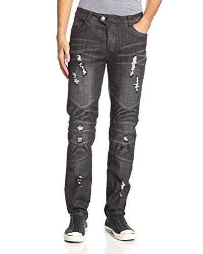 Darring Men's Badass Slim Fit Moto Jean