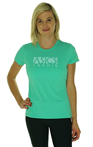 ASICS Women's Vintage Tennis T-Shirt, Cool Mint, Large