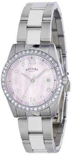 Rotary Ladies Round Pink Dial Stainless Steel Bracelet Watch LB02343/07