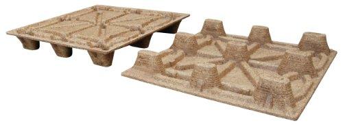 Vestil PWP-4840 Nestable Presswood Pallet, Wood, 2000 lbs Capacity, 48