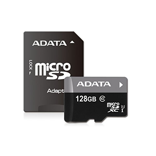 ADATA Premier 128GB microSDXC Class10 Memory Card with Adapter (AUSDX128GUICL10-RA1) (Micro Sd Adata compare prices)