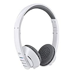 MEE Audio Air-Fi AF32 Stereo Bluetooth Wireless Headphones with Hidden Mic for iPhone iPod Touch iPad Android Phones - White/Grey