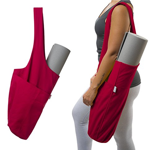 Yoga Mat Bag by Yogiii | The YogiiiTote | Yoga Mat Tote Sling Carrier w/ Large Side Pocket & Zipper Pocket | Fits All Size Mats (Yoga Mat Bag Extra Large compare prices)