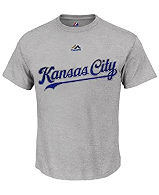 Majestic Kansas City Royals Big & Tall High Density Away T-Shirt - Grey