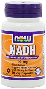 Now Foods Nadh 10Mg With 200Mg Ribose, 60 VCaps (FFP)