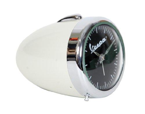 Orologio con design vintage di un faro originale Vespa, ottima idea per un regalo cromato / BIANCO CREMA