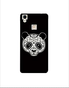 VIVO V3 max ht003 (160) Mobile Case by Mott2 - Bear Art Black and White Pattern (Limited Time Offers,Please Check the Details Below)