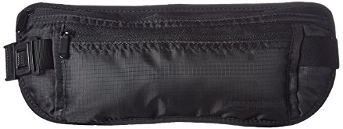 AmazonBasics RFID Travel Money Belt, Black