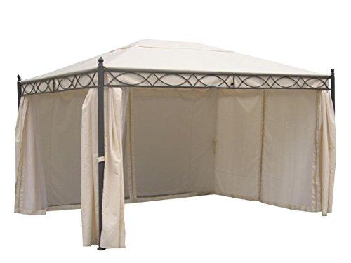 pavillon florenz ca 3 x 4 m gestell schwarz dach. Black Bedroom Furniture Sets. Home Design Ideas