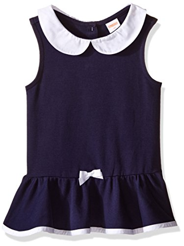 Gymboree Little Girls & Toddler Peplum Top with Peter Pan Collar, Merchant Marine, 6-12