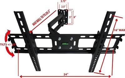 FULL MOTION LCD LED TV WALL MOUNT BRACKET SWIVEL TILT 32 37 40 42 46 50 55 60 65