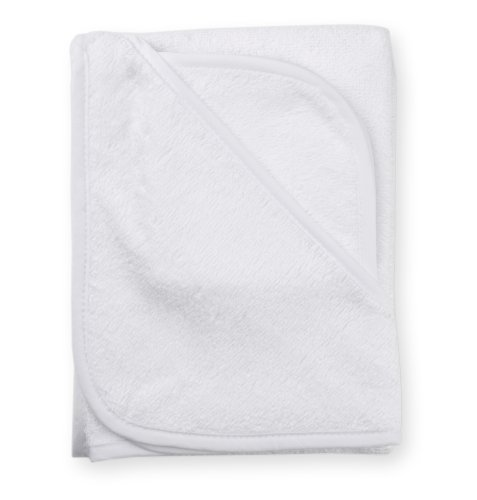 American Baby Company 3100-WH Cotton Terry Hooded Towel Set (White)