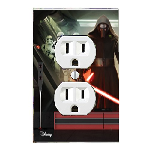 Got You Covered Star Wars Light Switch Cover or Outlet &/or Christmas Stocking Kylo Ren with Stromtroopers(1x Outlet)