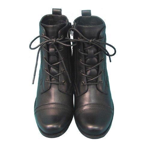 Amazon.co.jp: ENRICO MERAZZI[エンリコ メラッツィ] ブーツ レディース 本革レースアップ ショートブーツ ブラック 靴: シューズ&バッグ:通販