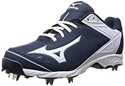 Mizuno Usa Mens Men\'s 9-Spike ADV Swagger Baseball Cleat,Navy/White,11 D US