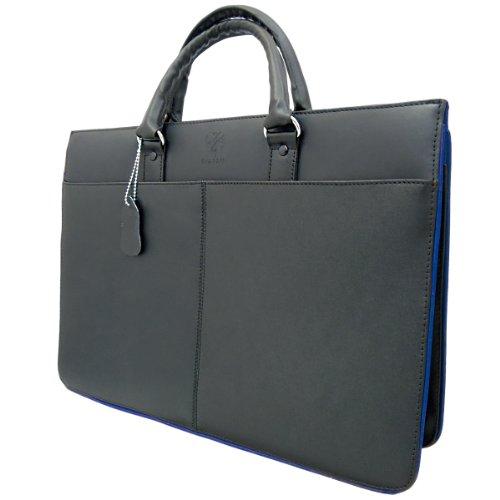 DIABLO KA-453 メンズ 牛革 ビジネスバッグ 【黒×青】