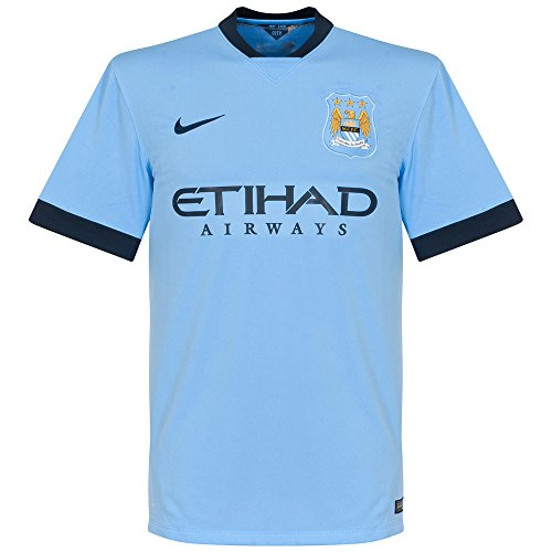 Nike Boys' Manchester City Short Sleeve Home Stadium Jersey