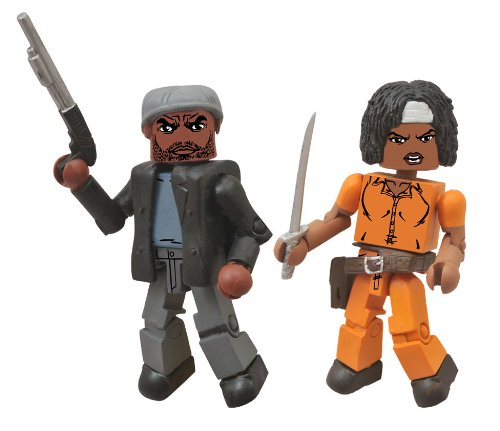 Diamond Select Toys The Walking Dead: Minimates Series 5: Michonne and Tyreese Two-Pack Action Figure - 1