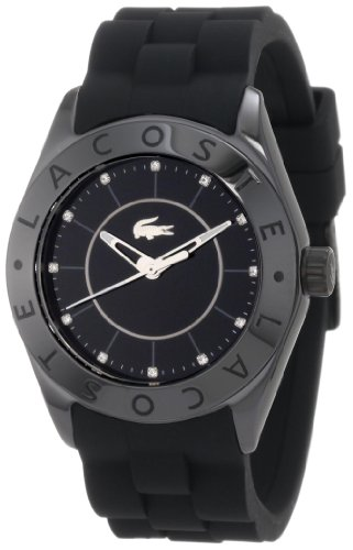 Lacoste Biarritz Black Dial Black Ceramice Ladies Watch 2000673