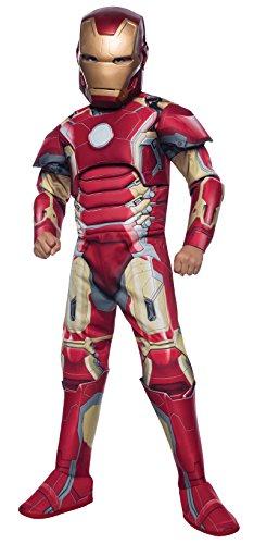 Rubie's IT610437-L - Costume Iron Man Deluxe con Armatura, L