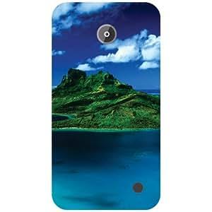 Nokia Lumia 630 Back Cover - Blue Sea Designer Cases