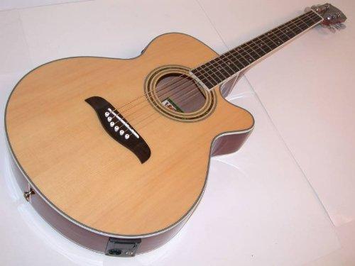 Oscar Schmidt Left Hand Acoustic/Electric Guitar W/ Kaces Gig Bag, Og10Cenlh