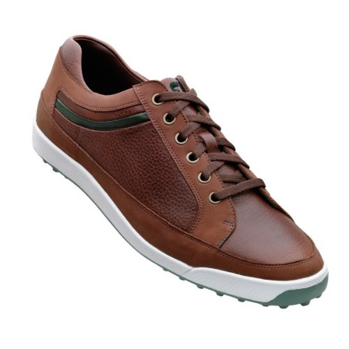 FootJoy Mens Contour Casual Spikeless Golf Shoes Dk Brown/Green 11