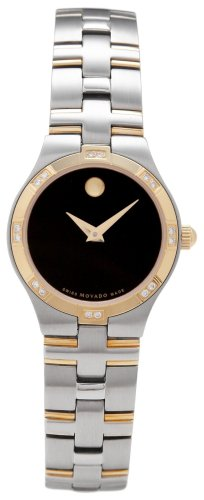 MOVADO Watch:Movado Women's 605046 Juro Diamond Accented Two-Tone Watch Images