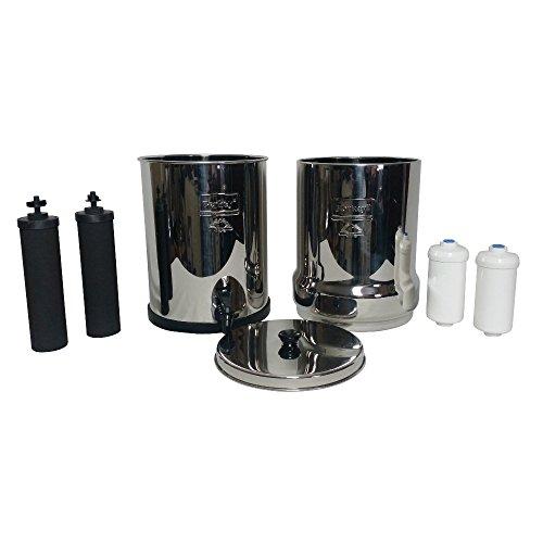 Big-Berkey-Water-Filter-2-Gallon-Stainless-Steel-Bundle-2-BB9-2-Fluoride-Filters-w-Live-Healthy-Stainless-Steel-Water-Bottle