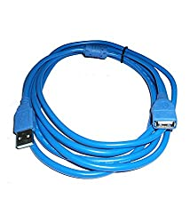 SuperShopperIndia USB 2.0 Extension Cable 5M 15ft - Blue