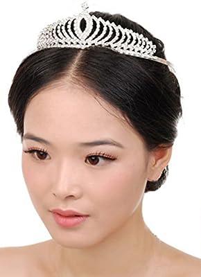 Stylish Shining Rhinestone Crown Headband Tiara