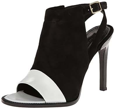 Rachel Zoe Women's Lacey Bootie,White/Black,5.5 M US