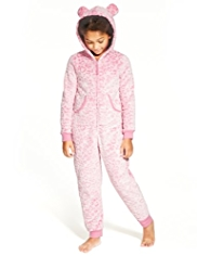 Soft & Cosy Hooded Burnout Leopard Print Onesie