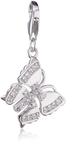 Rafaela Donata Charm Collection Damen-Charm Schmetterling 925 Sterling Silber Zirkonia weiß  60600227