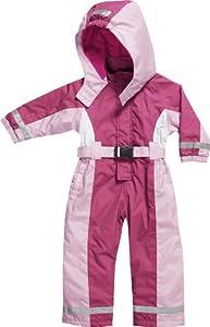 Playshoes Schneeanzug, Skianzug, Schneeoverall Mit Fleece Futter, Pink-Rosa - Traje para la nieve para niñas