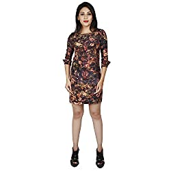 LALANA Multicolor Floral Print Silk Dress