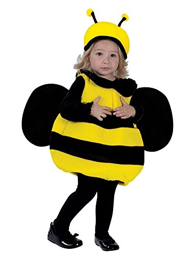 Fun World Toddler Girls Lil Bumble Bee Costume Plush Bumblebee Outfit 12-24 Months