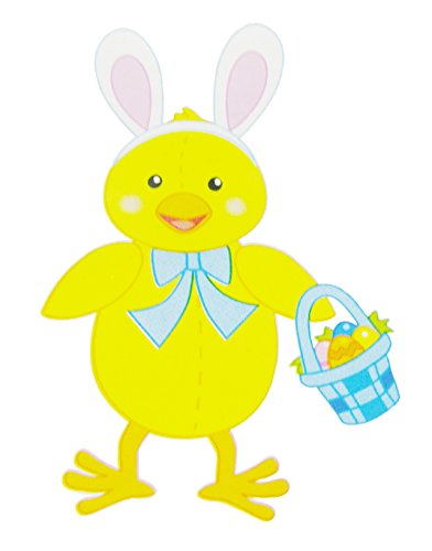 Spring Into Easter Yellow Chick with Easter Basket - 3ft Jointed Easter Decoration