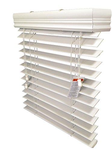 US Window And Floor 2 Inch Faux Wood Blind for A Door, Antique White 24 X 72
