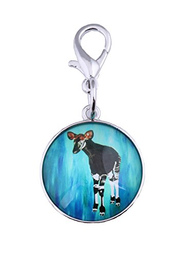 Okapi Zipper Pull Charm, Bag Charm with Lobster Claw Clasp - Animal (Okapi - New Hope)