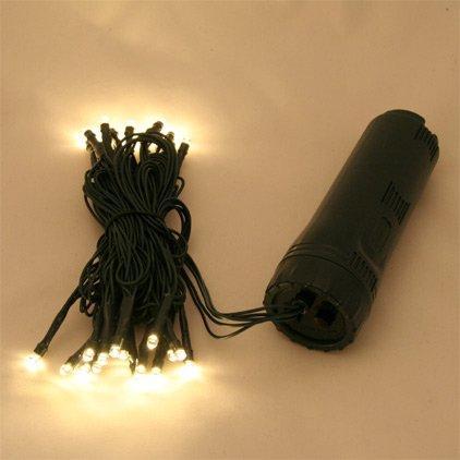 30er LED Lichterkette warm weiss, Aussen – batteriebetrieben, Dauerbetrieb und Blinkfunktion möglich