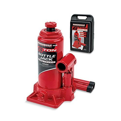 Powerbuilt 640407 Heavy Duty 6-Ton Bottle Jack (Bottle Jack 6 Ton compare prices)