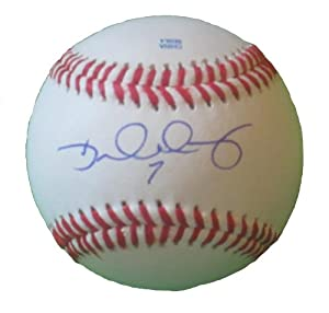 David Murphy Autographed Signed ROLB Baseball, Cleveland Indians, Texas Rangers,... by Southwestconnection-Memorabilia
