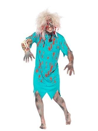 Smiffy's Zombie Patient Gown Costume, Multi, Medium