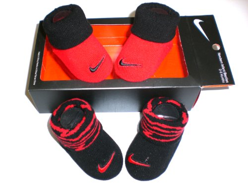 Nike Newborn Baby Booties Red & Black , Size 0-6 Months