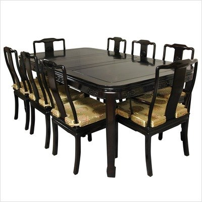 9 Piece Dining Table Set in Rosewood