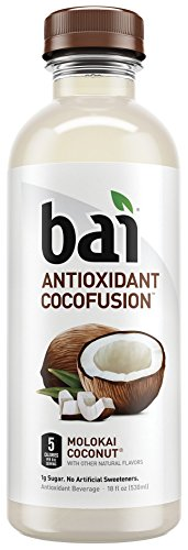 Bai Cocofusions Molokai Coconut,  Antioxidant Infused Beverage, 18 Ounce (Pack of 12)